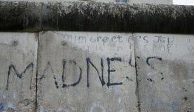 在柏林围墙的文本 免版税库存图片