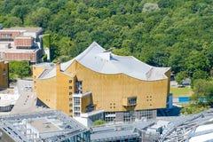 在柏林Philharmonie,音乐厅的鸟瞰图 免版税库存照片