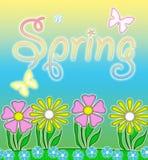 在柔和的淡色彩的春天 库存图片