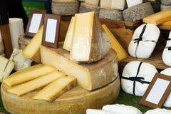 在柜台的乳酪 库存图片