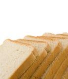 在查出的大面包被切的白色上添面包 图库摄影