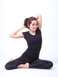 在查出的瑜伽 免版税库存照片