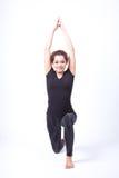 在查出的瑜伽 免版税库存图片