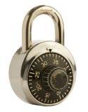 在查出的背景的号码锁 免版税库存图片