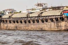 在查奥Praya河的驳船 库存照片