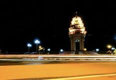 在柬埔寨的美好的今晚 库存照片