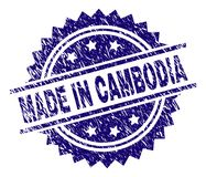 在柬埔寨邮票封印被构造做的难看的东西 库存例证