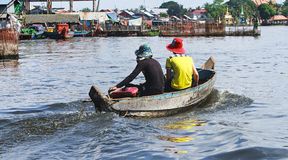 洪水在柬埔寨 免版税图库摄影