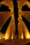 在柱子的另外看法在卢克索神庙 库存图片