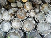 在柴堆的Firewoods 免版税库存图片