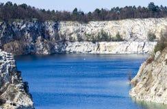 在标度之间的美丽的湖 图库摄影