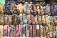 在标志的枕头 巴厘岛印度尼西亚 免版税库存图片