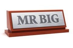 在标识牌的Big先生标题 免版税库存照片