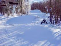 在树带界线滑雪胜地西维吉尼亚附近的风景 免版税库存照片