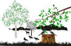 在树桩的Tutmouses 免版税图库摄影