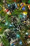 在树的圣诞节装饰诗歌选 免版税图库摄影