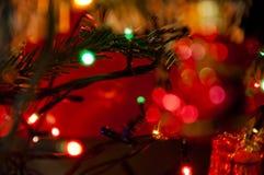 在树的圣诞节装饰诗歌选 库存图片
