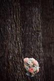 在树的本质的婚礼花束 库存照片