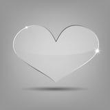 在样品背景的传染媒介现代玻璃心脏 库存图片