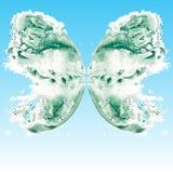 在样式印刷品自动铸字机绘画的蝴蝶 图库摄影