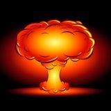 在样式漫画动画片的炸弹爆炸 免版税库存图片