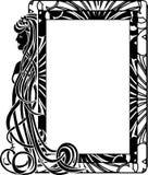 在样式艺术Nouveau的装饰框架 免版税库存图片