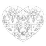 在样式zentangl的心脏 免版税图库摄影