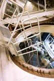 在核电站中金属化工业迷宫 库存照片