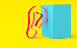 从在根据几何shap的明亮的颜色的磁带点燃 免版税库存图片