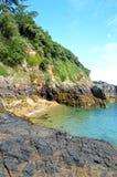 在根西岛的小河 库存照片