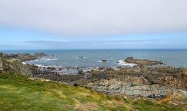 在根西岛的沿海场面 库存照片