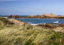 在根西岛,海峡群岛的沿海场面 库存图片