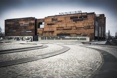 在格但斯克造船厂的欧洲团结中心在北波兰 免版税库存照片