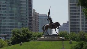 在格兰特公园的雕象在芝加哥 影视素材
