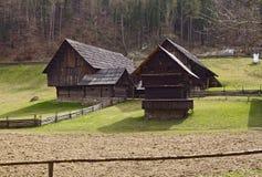 在格拉茨附近的奥地利露天博物馆Stuebing :谷仓,在E附近的Winkl 免版税库存图片