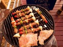在格栅的可口烤肉 库存图片