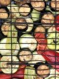 在格栅的季节性菜 免版税库存图片