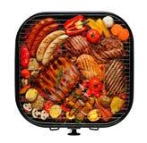 在格栅的烤肉 免版税库存图片