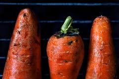 在格栅的红萝卜 免版税库存图片