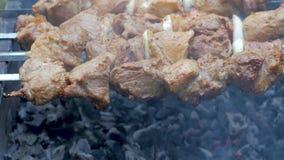 在格栅的Kebab烤肉 影视素材