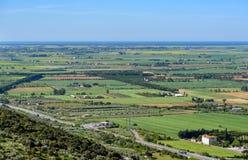 在格罗塞托,意大利省的托斯坎风景  免版税库存图片