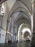 在格罗特Kirke里面的一个走廊在哈莱姆 免版税库存图片