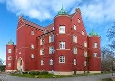 在格罗韦,吕根县德国海岛附近的Spyker城堡  免版税库存照片