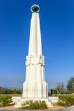 在格里菲斯观测所的天文学家纪念碑在洛杉矶, 免版税库存照片