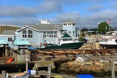 在格洛斯特口岸,马萨诸塞的渔船 免版税图库摄影