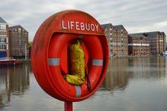 在格洛斯特船坞的Lifebuoy 免版税库存图片