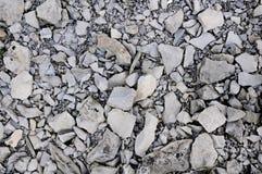 在格洛斯Morne山的压碎岩 库存图片