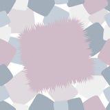 在桃红色和蓝色口气的时髦粗野的无缝的样式补缀品 图库摄影