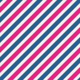 在桃红色和蓝色的无缝的条纹样式背景 皇族释放例证