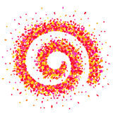 在桃红色的五彩纸屑spirale 免版税库存图片